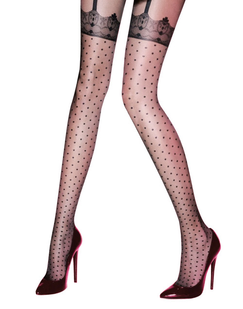 Pretty Polly Fabulous Fasion Spotty Tights