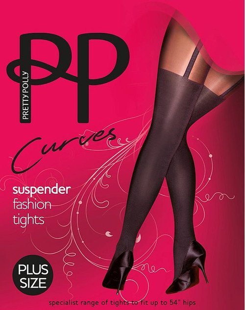 Pretty Polly Fabulous Fashion Suspended Tights Queen Size