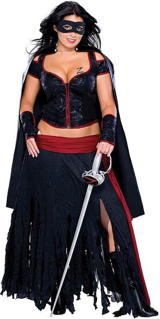 Lady Zorro Plus Size Costume