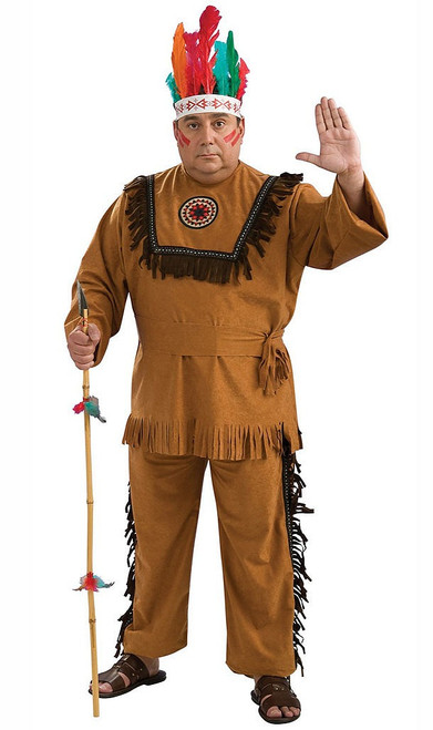 Indian Warrior Adult Plus Costume