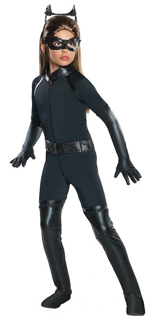 The Dark Knight Rises Deluxe Catwoman Girl Costume