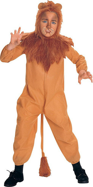Cowardly Lion Boy Costume