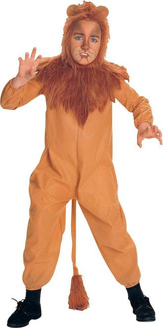 Cowardly Lion Boy Costume