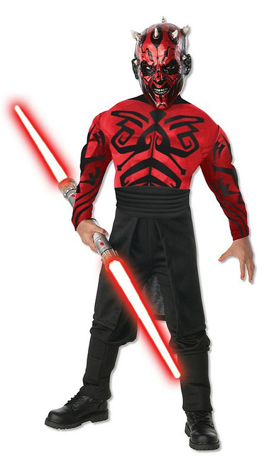 Star Wars Deluxe Muscle Chest Darth Maul Costume