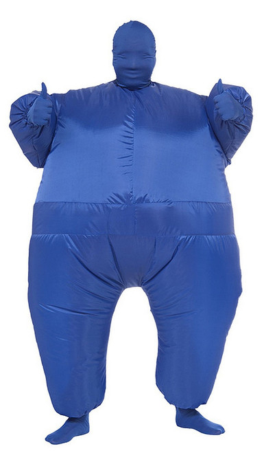 Inflatable Fat Suit Blue Adult