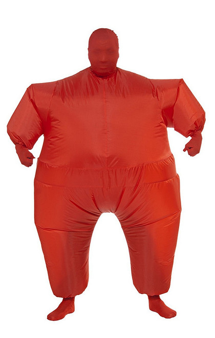 Inflatable Fat Suit Red Adult