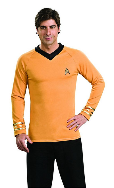 Star Trek Deluxe Captain Kirk Gold Shirt Costume