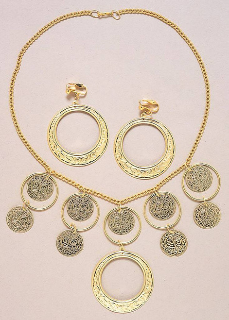 Goldtone Necklace & Earrings