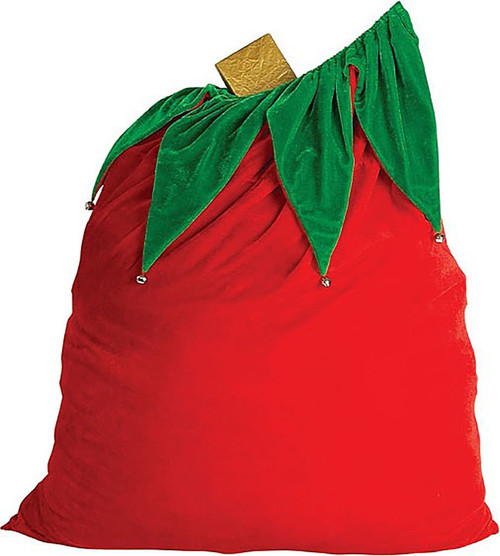 Santa Bag Velvet with Bells