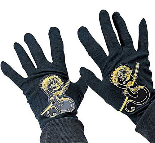 Ninja Child Black Gloves