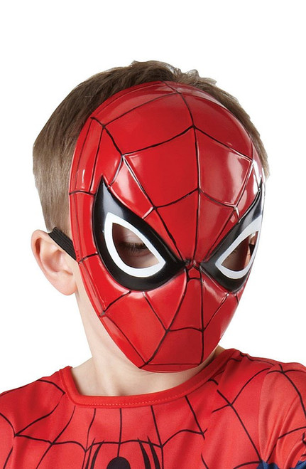 Spiderman molded half mask