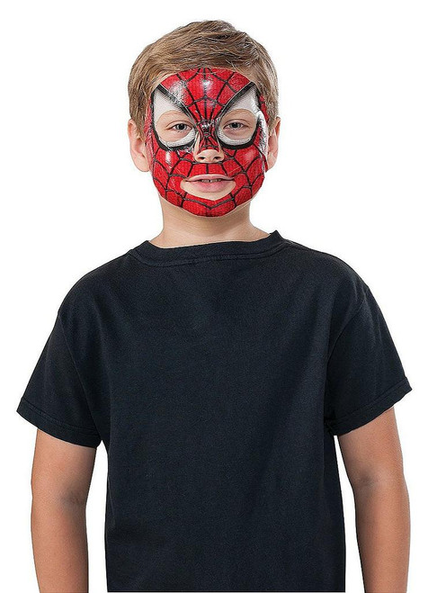 Spiderman 2 Face Tattoo