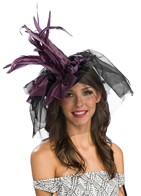 Purple Witch Mini Hat