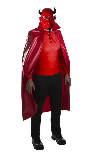 Red Devil Mask & Cape Set