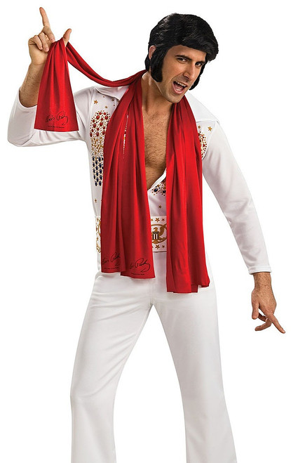 Elvis Long Red Scarf