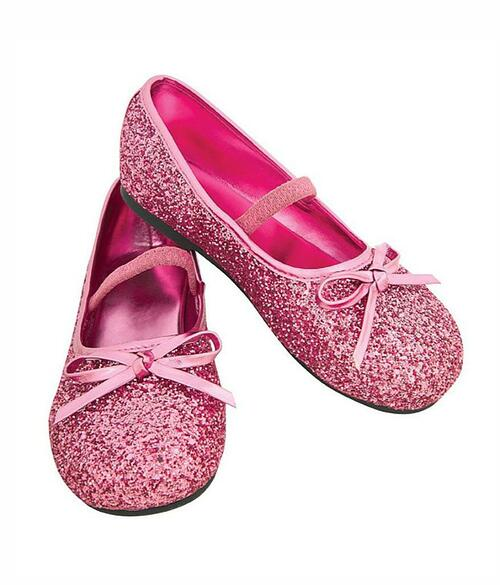 Pink Glitter Child Flats