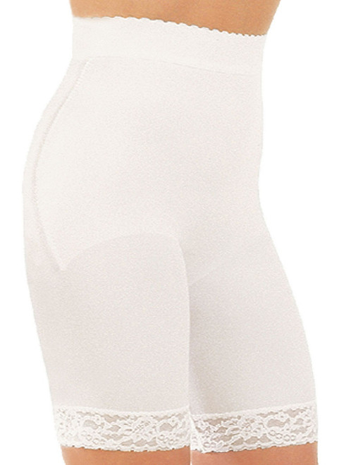 Hi-Waist Bike Shaper White Regular & Plus Size
