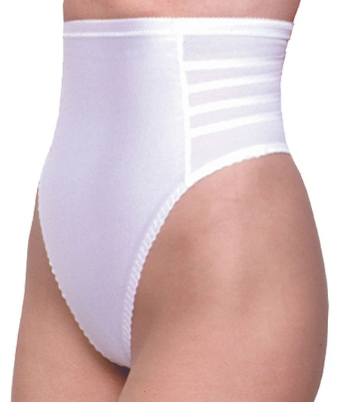 High Waist Thong White Regular & Plus Size