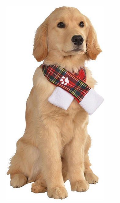 Plaid Christmas Scarf for Pets