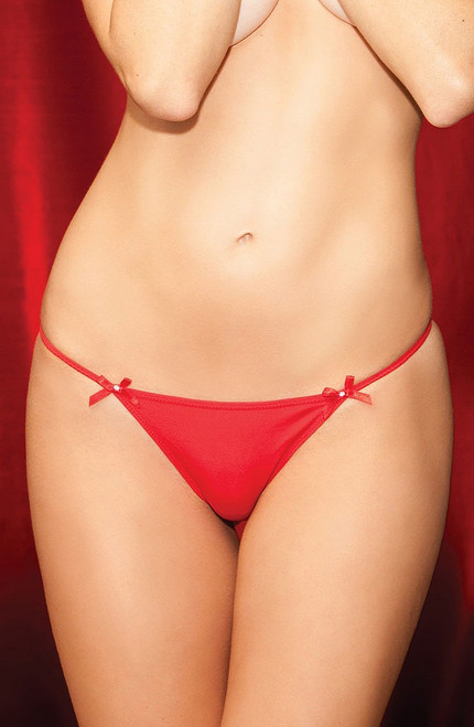 Diamond Back G-String Red