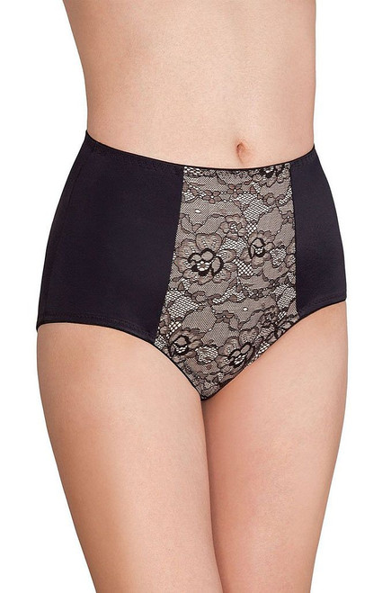 Provocative Control High cut Lace Brief Black