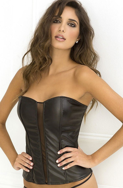 Black Pleather Corset