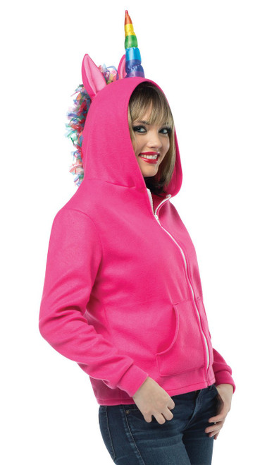 Pink Unicorn Adult Hoodie
