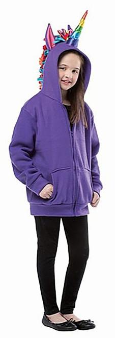 Purple Unicorn Teen Hoodie
