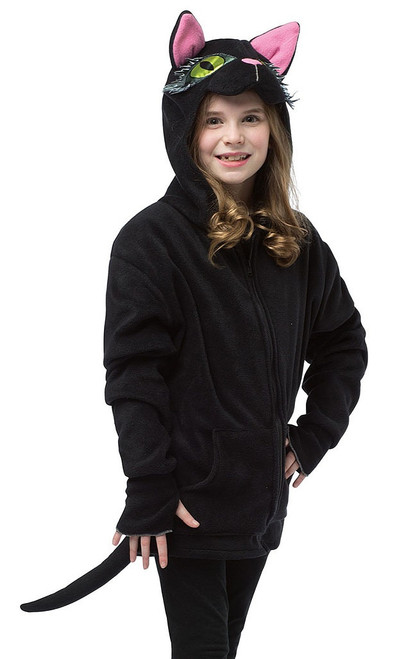Black Cat Child Hoodie Costume