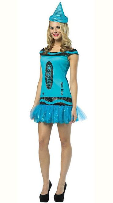 Crayola Steel Blue Woman Dress