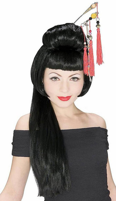 Long Asian Lady Wig