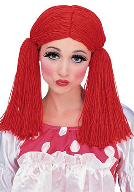 Red Rag Doll Wig