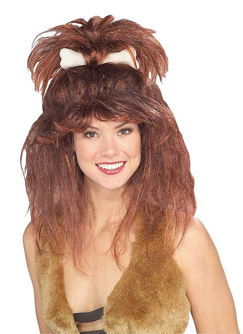 Cavewoman Wig With Bone