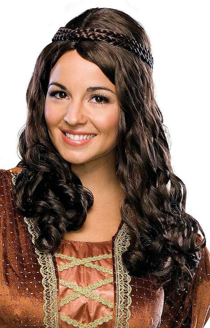 Renaissance Girl Wig Brown