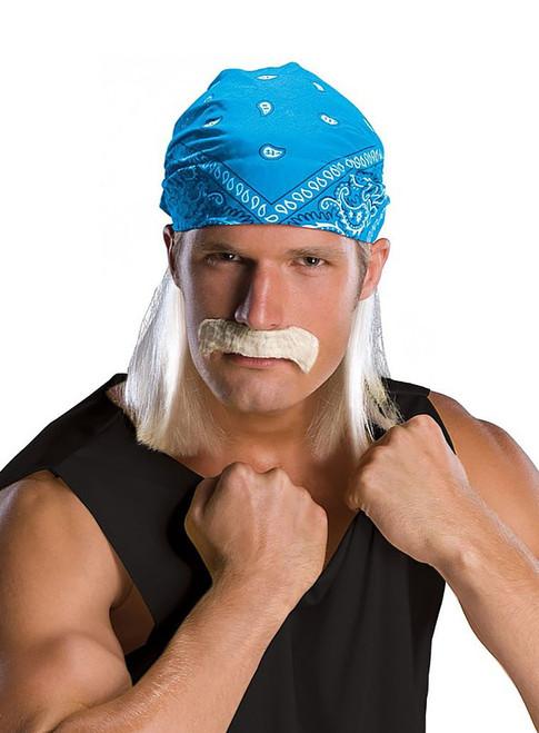 Wrestling Star Wig & Moustache