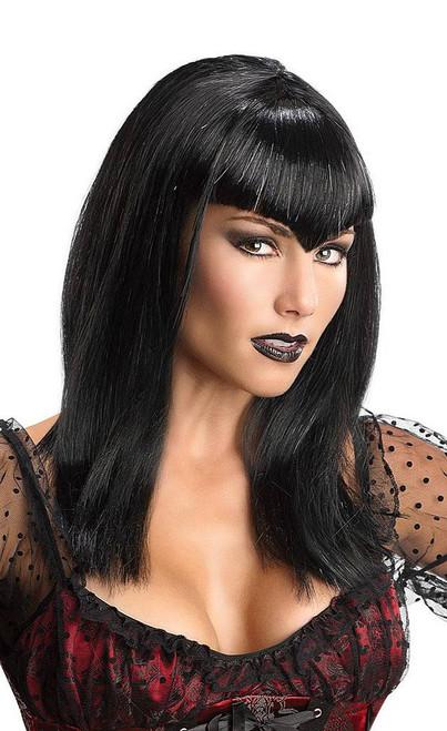 Black Glitter Vampiress Wig