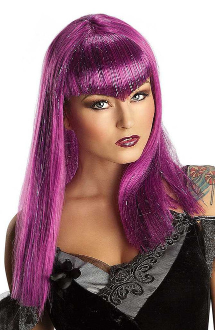 Glitter Vamp Wig Purple