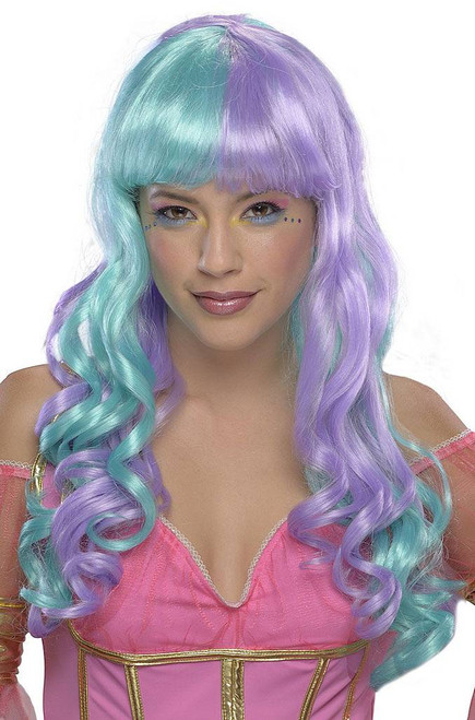 Candy Fairy Wig Green/Purple