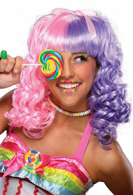 Lollipop Wig Pink/Purple