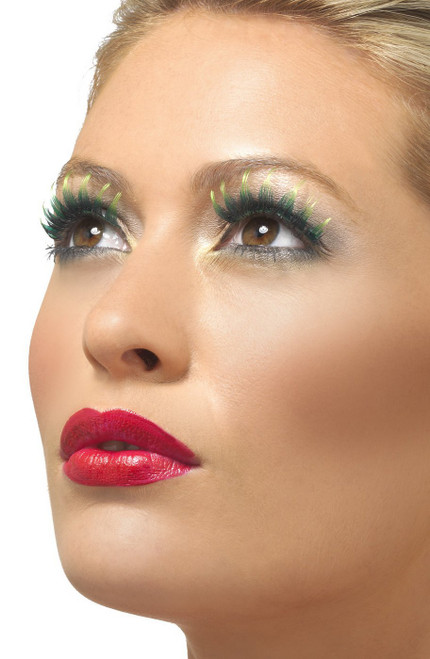 Green Eyelashes With Gemstones