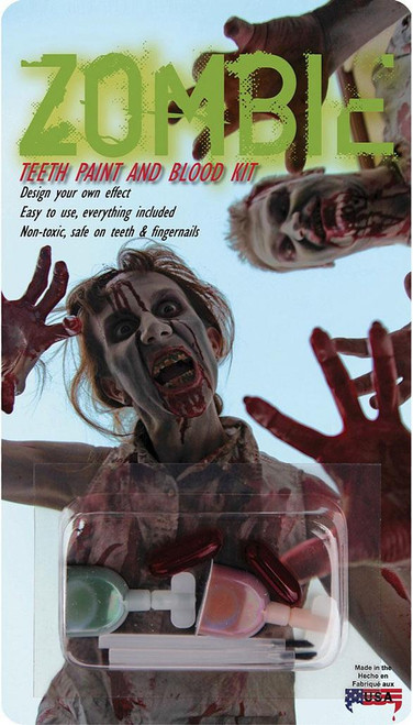Zombie Teeth Paint & Blood Kit