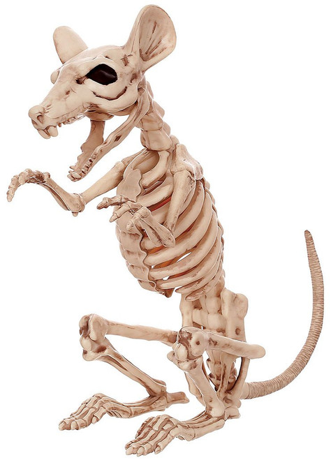 Skeleton Rat Decor 12""
