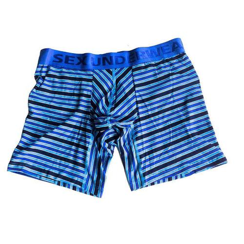 Striped Pre-Dyed Blue Boxer