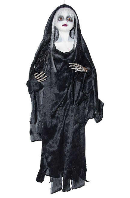 Bloody Black Doll Decor 20""