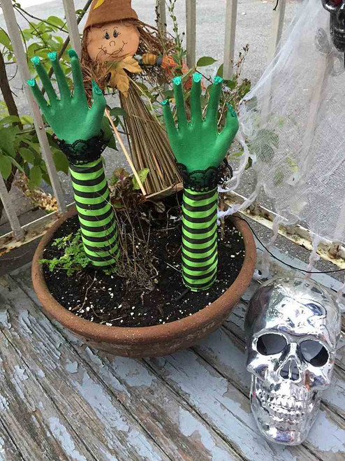 Witch Hand Stick Pumpkin Decor (2 pieces)