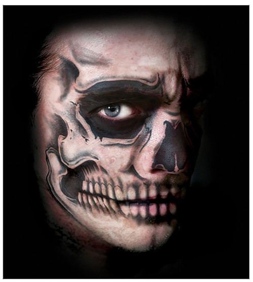 Skull Face Transfer Tattoo