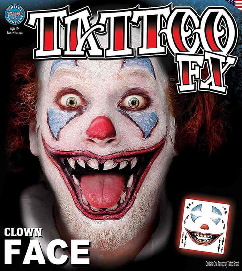Clown Face Transfer Tattoo