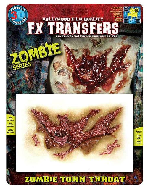 Zombie Torn Throat Tattoo