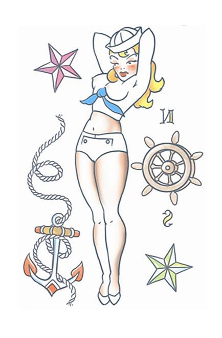 Pin Up Sailor Girl Tattoo