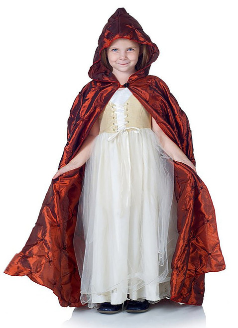 Pintuck Cape Red for Kids